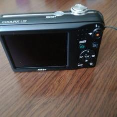 Camera Foto Coolpix L27 + card+ acumulatori+ incarcator - Aparat Foto Nikon Coolpix L27