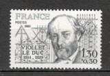 Franta.1980 100 ani moarte E.Viollet le Duc-arhitect  SF.593.17, Nestampilat