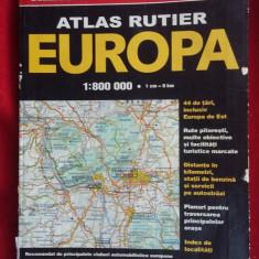 ATLAS RUTIER - EUROPA 1.800.000 de Istituto Geografico deAgostini - Harta Europei