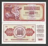 IUGOSLAVIA  100  DINARI  DINARA  1981 ,  UNC  [1]  P-90b  ,   necirculata