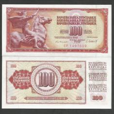 IUGOSLAVIA 100 DINARI DINARA 1981, UNC [1] P-90b, necirculata - bancnota europa