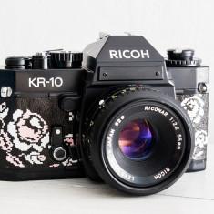 Ricoh KR-10 + Obiectiv la alegere, aparat foto vechi functional, film, colectie - Aparat Foto cu Film Ricoh, SLR, Mic