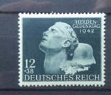 Germania (Reich) 1942 – MILITARI EROI,  timbru MNH  cu sarniera, A32/DB13