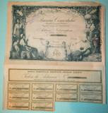 Actiune nominativa 500 lei Banca Comertului Craiova - 1921, Romania 1900 - 1950