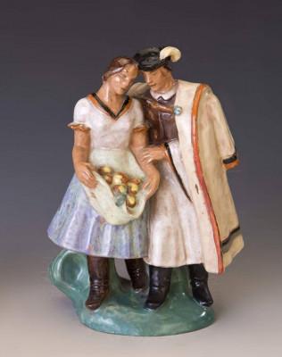 bibelou ceramica  port popular  maghiara rara foto