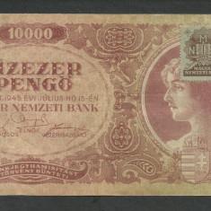 UNGARIA 10000 10.000 PENGO 15 Iulie 1945 cu Timbru [1] P-119b.1, VF - bancnota europa