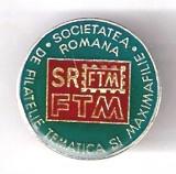 (5) INSIGNA  SOC.ROMANA DE FILATELIE TEMATICA SI MAXIMAFILIE