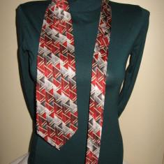 Cravata Pierre Cardin matase naturala, ca noua, Culoare: Multicolor, Geometric