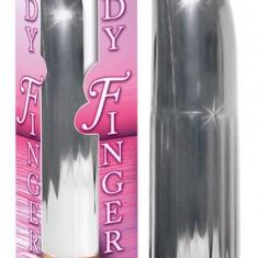 Vibrator LADYFINGER Argintiu - Vibrator Vaginal