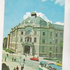 Bnk cp Cluj Napoca - Biblioteca universitarilor - circulata - marca fixa - Carte Postala Transilvania dupa 1918, Printata