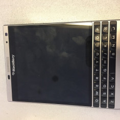 BlackBerry Passport Silver - Telefon BlackBerry, Argintiu, Orange