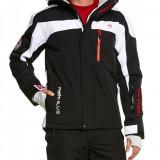 Geaca groasa de ski, snowboard, munte marime XXL pentru barbati, Nebulus model Rocket cu strat Teflon, negru cu alb, ID428 - Echipament ski, Geci