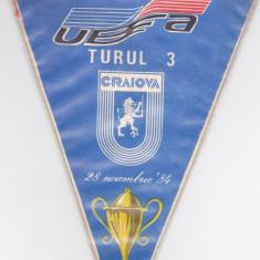 Fanion fotbal UNIVERSITATEA CRAIOVA - ZELEZNICAR SARAJEVO 28.11.1984