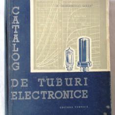 """""""CATALOG DE TUBURI ELECTRONICE"""", A. Georgescu / I. Golea, 1956 - Carti Electronica"""