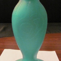 PVM - Vaza veche Daum Nancy sticla Art Deco 1920 - 1930 Franta RARITATE