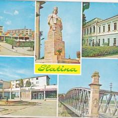 Bnk cp Slatina - Vedere - circulatta - marca fixa - Carte Postala Oltenia dupa 1918, Circulata, Printata
