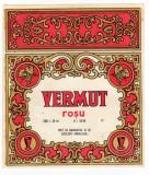 ETICHETA PENTRU VERMUT ROSU NI.59-85