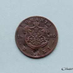 ROMANIA - 2 Bani 1880 - Moneda Romania, Cupru (arama)