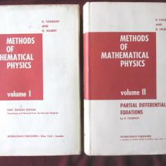 """METHODS OF MATHEMATICAL PHYSICS"", Vol.I+II, R. Courant / D. Hilbert, 1953 /'62 - Carte Fizica"