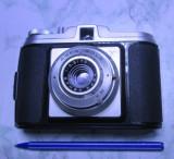 Aparat foto vechi Agfa Isola  obiectiv colapsabil pliabil anii 50 functional