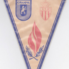 Fanion fotbal UNIVERSITATEA CRAIOVA - AS MONACO (1985 Cupa Cupelor)