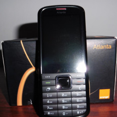 Telefon cu butoane Orange Atlanta - Telefon Orange, Negru, Nu se aplica, Fara procesor