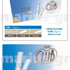 CLUB ELEGANT - 10 cutii tuburi tigarifiltru alb pentru injectat tutun x 200 buc - Foite tigari