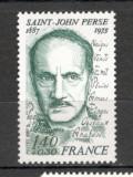 Franta.1980 5 ani moarte S.J. Perse-poetPREMIUL NOBEL  SF.594.16, Nestampilat