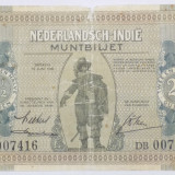 INDIILE OLANDEZE 2 1/2 Gulden 1940 VG+ - bancnota asia