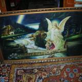 Pictura in ulei Ingerul Pazitor - Pictor roman, Religie, Altul