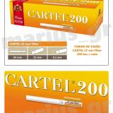 CARTEL 25 mm Filter - Pachet 10 cutii tuburi tigari x 200 buc pentru tutun - Foite tigari