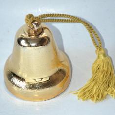 Clopotel auriu din plastic cu Music box incorporat - Ornamente Craciun