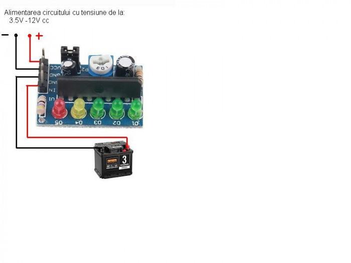INDICATOR a nivelului de INCARCARE a bateriei AUTO . mic si usor de instalat