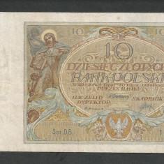 POLONIA 10 ZLOTI ZLOTYCH 1929 [2] P-69, VF+ - bancnota europa