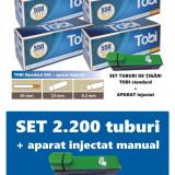 2.200 tuburi de tigari pentru tutun, TOBI 4 x 550 + injector manual