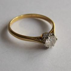 Inel de aur 18k cu diamant -0, 5 ct -820 - Inel aur alb