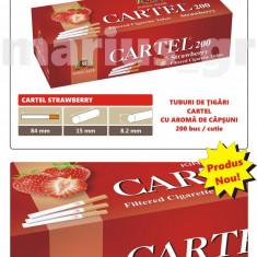 Tuburi de tigari Cartel cu aroma de CAPSUNI - set / 2.000 tuburi pentru tutun - Foite tigari