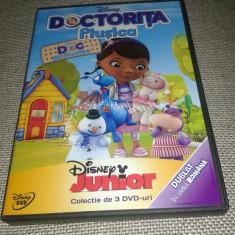 Doctorita Plusica / Doc-McStuffin - Colectie 3 DVD-uri Filme desene animate - Film animatie Altele, Romana