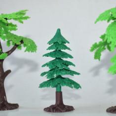 Lot 3 figurine plastic, copaci, arbori, pomi pentru diorama - Miniatura Figurina