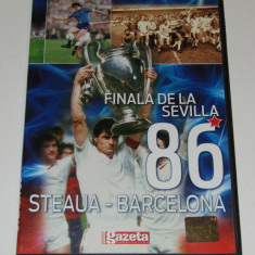 DVD fotbal STEAUA BUCURESTI - BARCELONA (finala de la Sevilla`86)