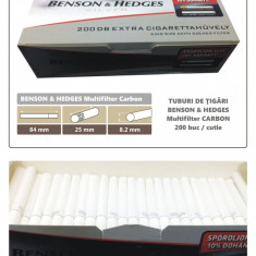 1.000 tuburi Benson Hedges - Multiflitru Carbon / pentru umplut tigari cu tutun - Foite tigari