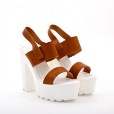 Sandale dama Caen maro