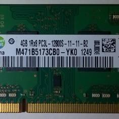 Ram laptop Samsung 4GB PC3-12800 DDR3 1600Mhz M471B5173CB0 PC3L Low 1.35V Sodimm