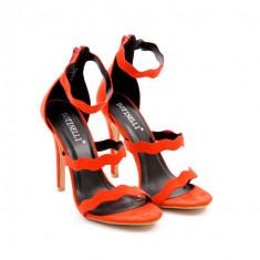 Sandale dama Latina rosii