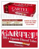 CARTEL 100's RED - SUPER LONG 25 mm - Pachet 10 cutii tuburi tigari, pt tutun