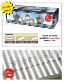 MORENO White 20 mm Filter - 2000 tuburi de tigari pt injectat tutun, filtru alb