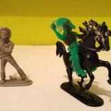 Lot 3 figurine West Germany vechi, vintage: cowboy, cal, calaret indian, diorama