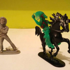 Lot 3 figurine West Germany vechi, vintage: cowboy, cal, calaret indian, diorama