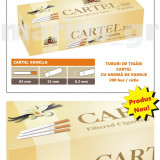 Tuburi de tigari Cartel cu aroma de VANILIE - set / 2.000 tuburi pentru tutun - Foite tigari