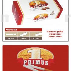 2.000 tuburi de tigari Primus RED, cu filtru rosu pentru injectat tutun - Foite tigari